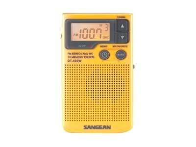 Sangean AM FM Digital Weather Alert Pocket Radio, DT-400W