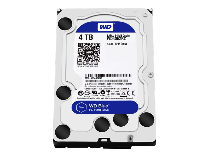 WD 4TB WD Blue SATA 3.5 Internal Hard Drive, WD40EZRZ