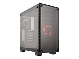 Corsair Chassis, Crystal Series 460X Compact Mid-Tower ATX 2x3.5 Bays 3x2.5 Bays 7xSlots, CC-9011099-WW, 32626112, Cases - Systems/Servers