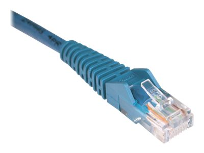 Tripp Lite Cat5e RJ-45 M M Snagless Molded Patch Cable, Blue, 1ft