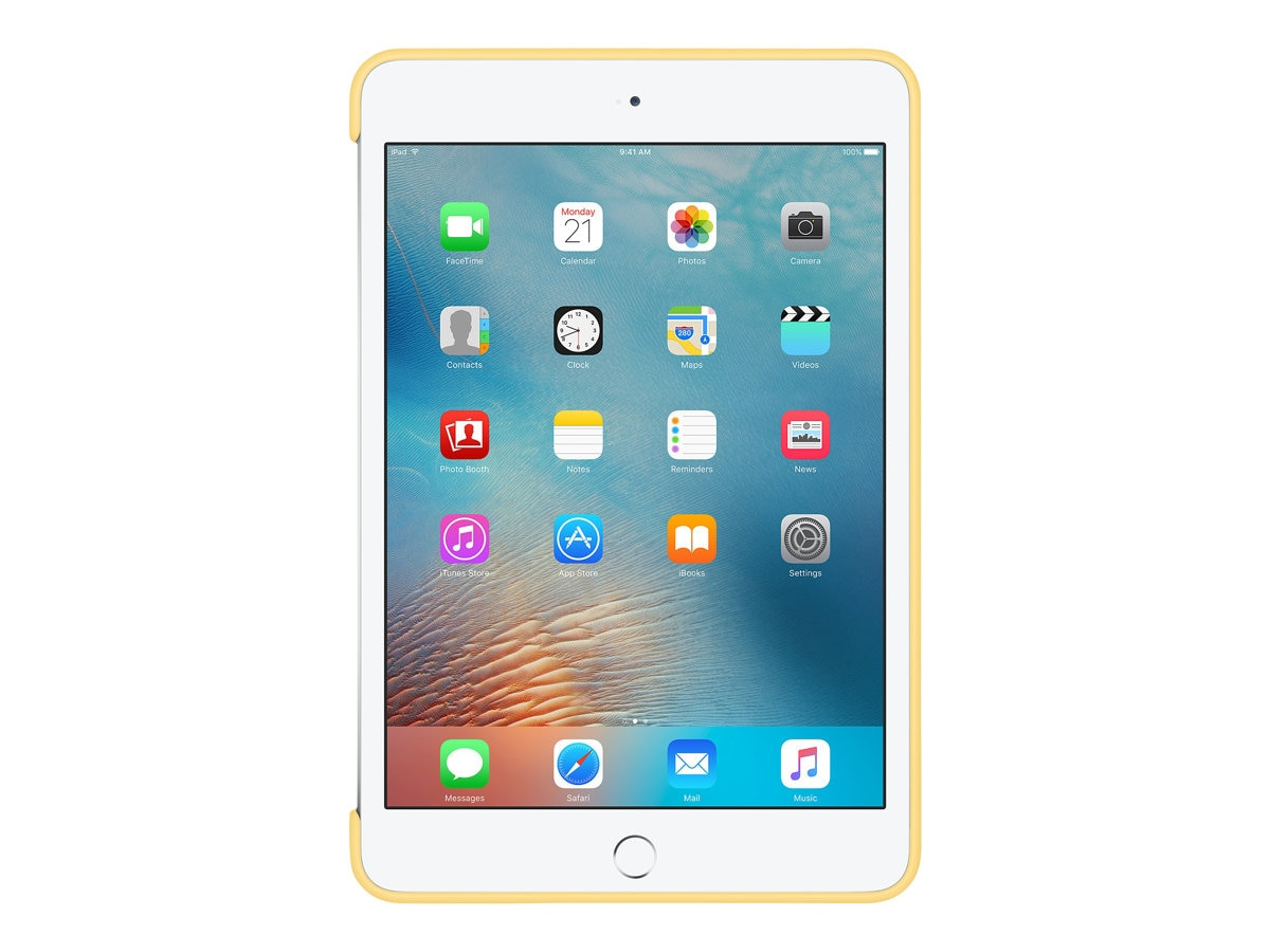 Apple iPad mini 4 Silicone Case, Yellow, MM3Q2ZM/A, 31811535, Carrying Cases - Tablets & eReaders