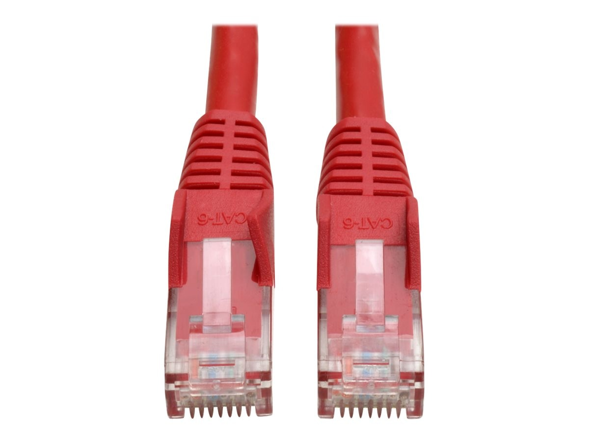 Tripp Lite Cat6 Snagless Patch Cable, Red, 15ft