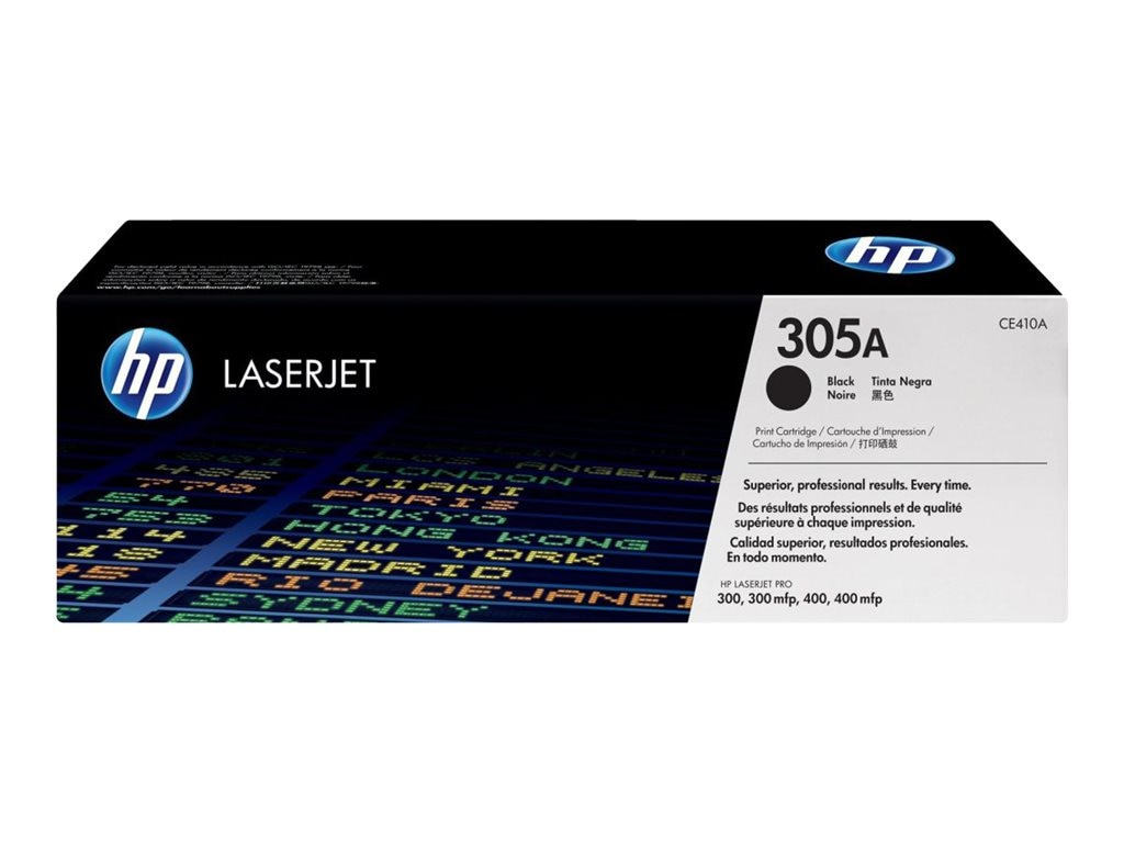 HP 305A (CE410A) Black Original LaserJet Toner Cartridge for HP LaserJet Pro Printers, CE410A, 13592068, Toner and Imaging Components