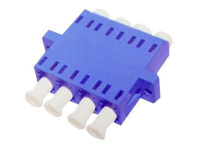 ACP-EP Female LC to Female LC SMF Quad Fiber Optic Adapter, ADD-ADPT-LCFLCF-SMQ
