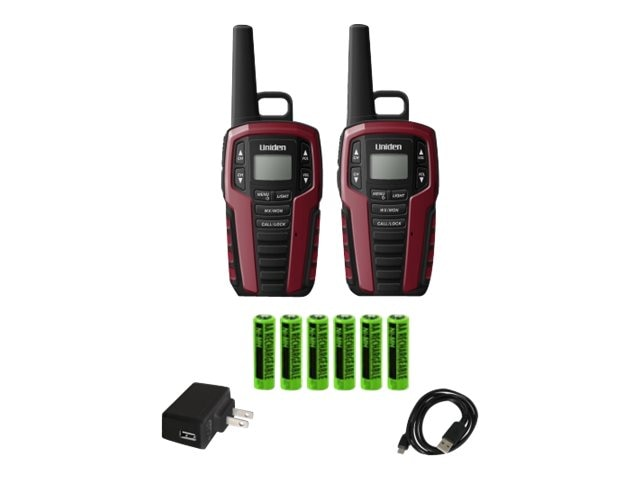 Uniden GMRS FRS 32-Mile Two Way Radio w  121 Privacy Codes, Weather Alert & Charging Cradle