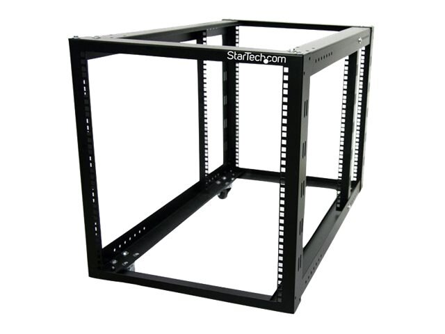 StarTech.com 12U 4 Post Server Equipment Open Frame Rack Cabinet wtih Adjustable Posts, 4POSTRACK12A