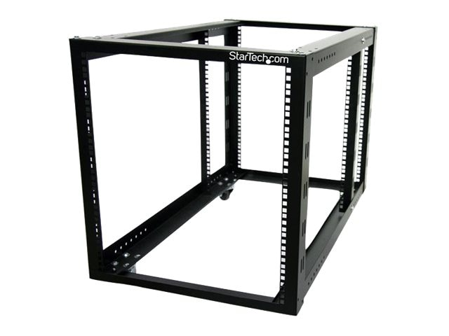 StarTech.com 12U 4 Post Server Equipment Open Frame Rack Cabinet wtih Adjustable Posts