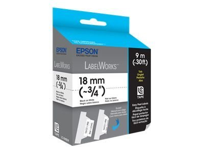 Epson 3 4 LabelWorks Folder Tab LC Tape Cartridge - Black on White