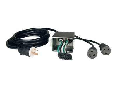 Tripp Lite Alt Back Panel Converts Hardwire to L6-30P for SU6000 UPS (2) Outlet, SUPDM11