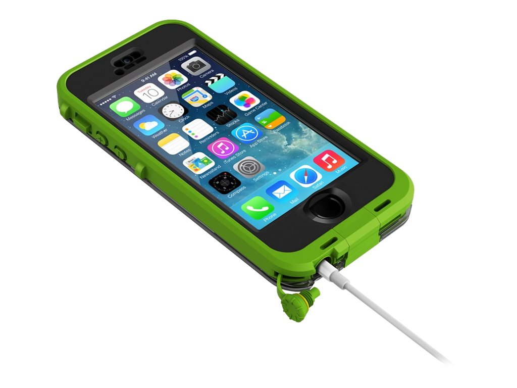 Lifeproof Nuud Case Blaze for iPhonE 5 5S, Dark Lime Smoke, 2105-04, 18817326, Carrying Cases - Phones/PDAs