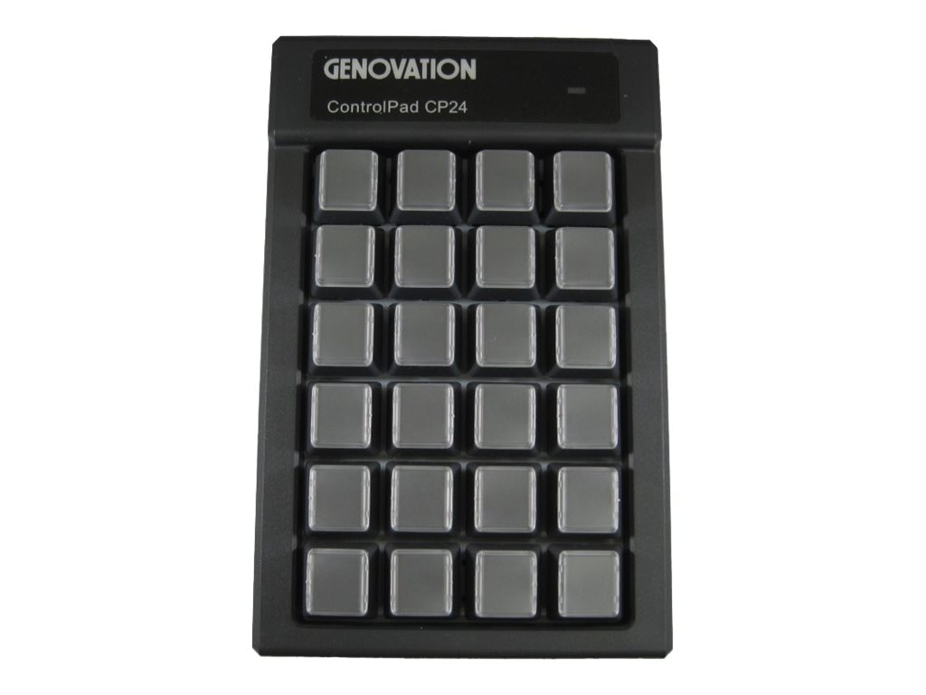 Genovation Controlpad 24-key USB HID 6ft Cable, CP24-USBHID, 21645991, Keyboards & Keypads