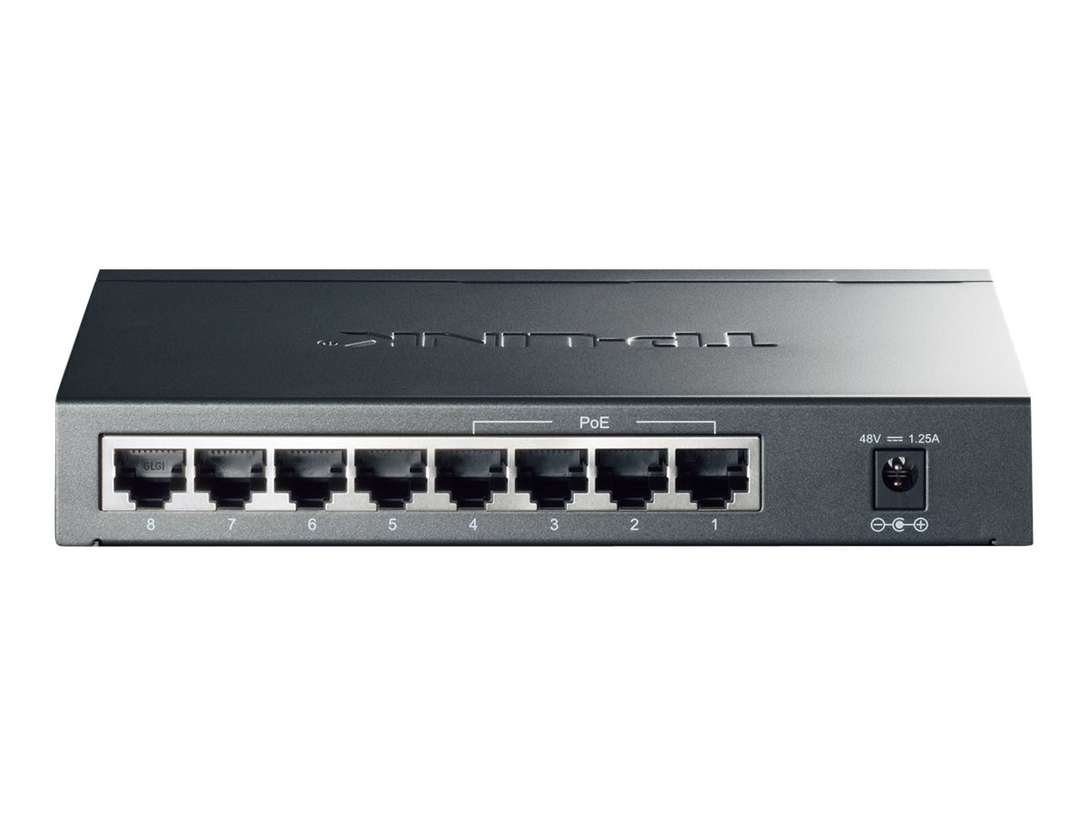 TP-LINK 8-Port Giagbit PoE Switch, 4 POE ports, IEEE 802.3af, Max Output 53W, TL-SG1008P