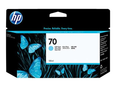HP 70 Light Cyan Ink Cartridge for HP DeskJet Z2100 & Z3100 Printers, C9390A, 7121999, Ink Cartridges & Ink Refill Kits