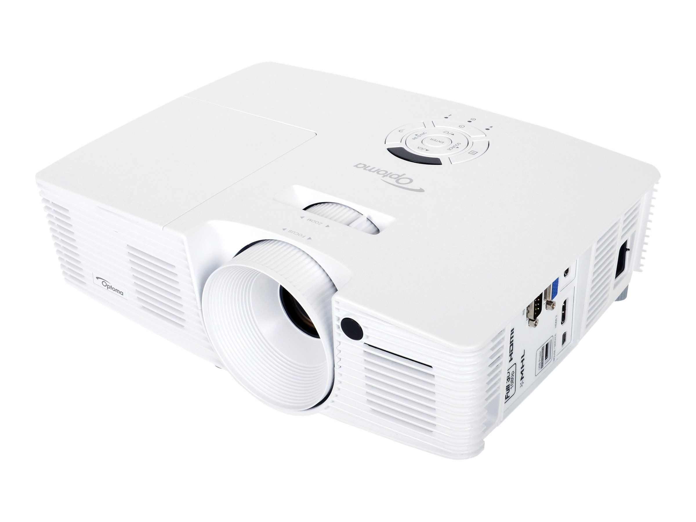 Optoma EH341 Full HD 3D DLP Projector, 3500 Lumens, White