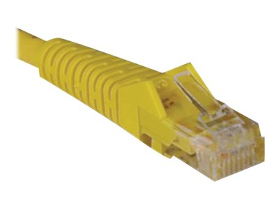 Tripp Lite Cat5e RJ-45 M M Snagless Molded Patch Cable, Yellow, 1ft, N001-001-YW, 14469109, Cables