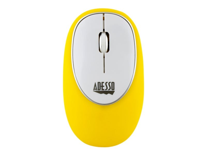Adesso Wireless Anti-Stress Gel Mouse, Yellow, IMOUSEE60Y, 27567921, Mice & Cursor Control Devices