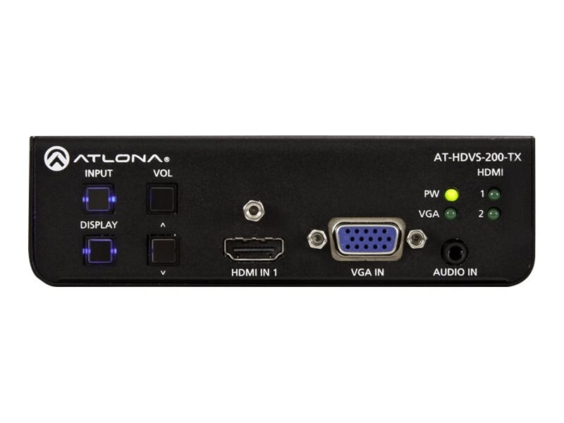 Atlona Three-Input Switcher for HDMI and VGA Sources with Automatic Display Control and Ethernet-Enabled, AT-HDVS-200-TX