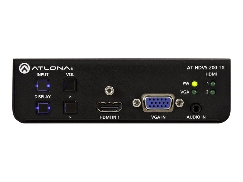 Atlona Three-Input Switcher for HDMI and VGA Sources with Automatic Display Control and Ethernet-Enabled