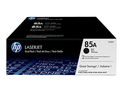 HP 85A (CE285AD) 2-pack Black Original LaserJet Toner Cartridges, CE285D, 13344814, Toner and Imaging Components