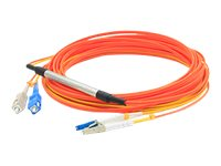 ACP-EP Fiber Conditioning Patch Cable, (2) SC 62.5 125 to (1) LC 62.5 125 & (1) LC 9 125, 1m