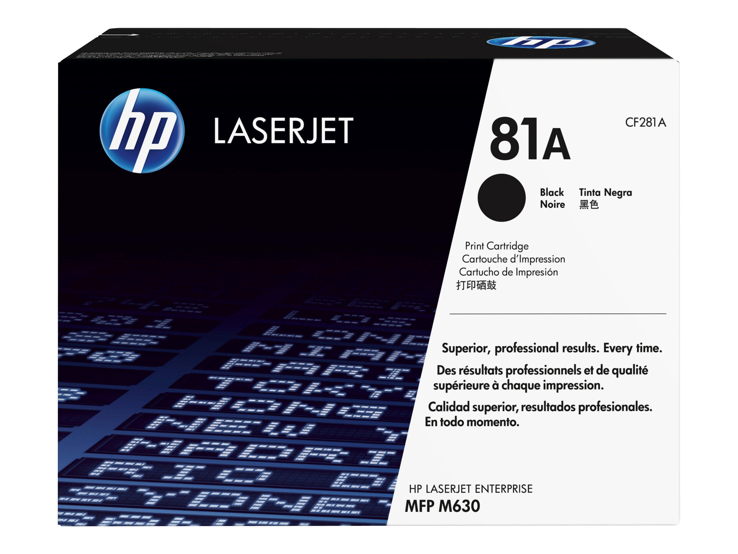 HP 81A (CF281A) Black Original LaserJet Toner Cartridge, CF281A, 17644419, Toner and Imaging Components