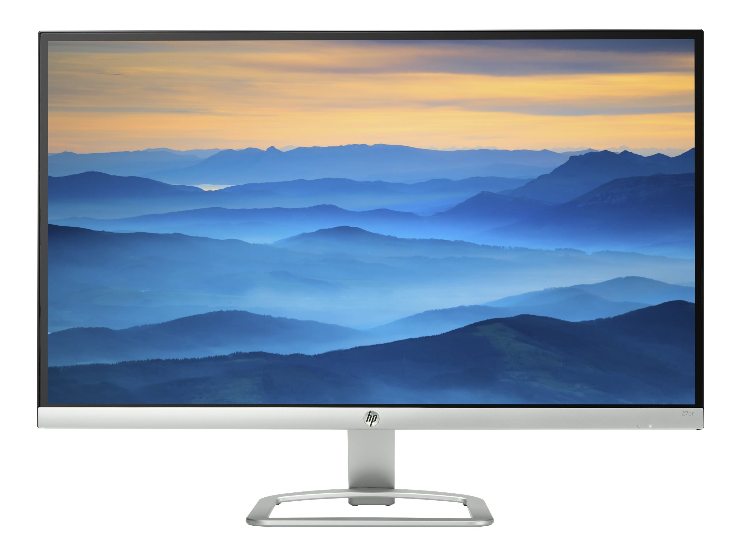 HP 27 27ER Full HD LED-LCD Monitor, Silver, T3M88AA#ABA