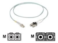 Black Box Fiber Patch Cable, 10Gb, SC-LC, 50 125, Duplex, Multimode, 3m