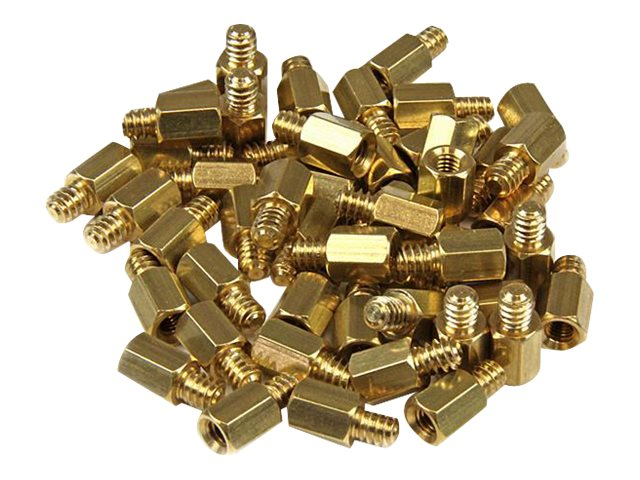 StarTech.com Metal Jackscrew Standoffs #6-32 to M3, 50-pack