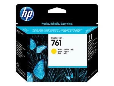 HP 761 Yellow Designjet Printhead, CH645A, 12712451, Ink Cartridges & Ink Refill Kits