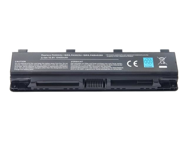 Ereplacements 6-Cell 5200mAh Battery for Toshiba Satellite C50, PA5026U-1BRS-ER, 21406211, Batteries - Other