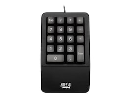 Adesso Easytouch Waterproof Antimicrobial Ergonomic Numeric Pad, USB, AKB-618UB, 32053449, Keyboards & Keypads