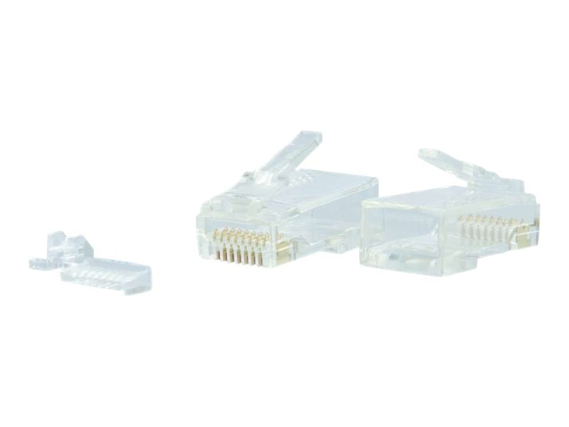C2G RJ45 Cat6 Modular Plug for Round Solid Stranded Cable, 100 Pack, 00890, 15982158, Cable Accessories
