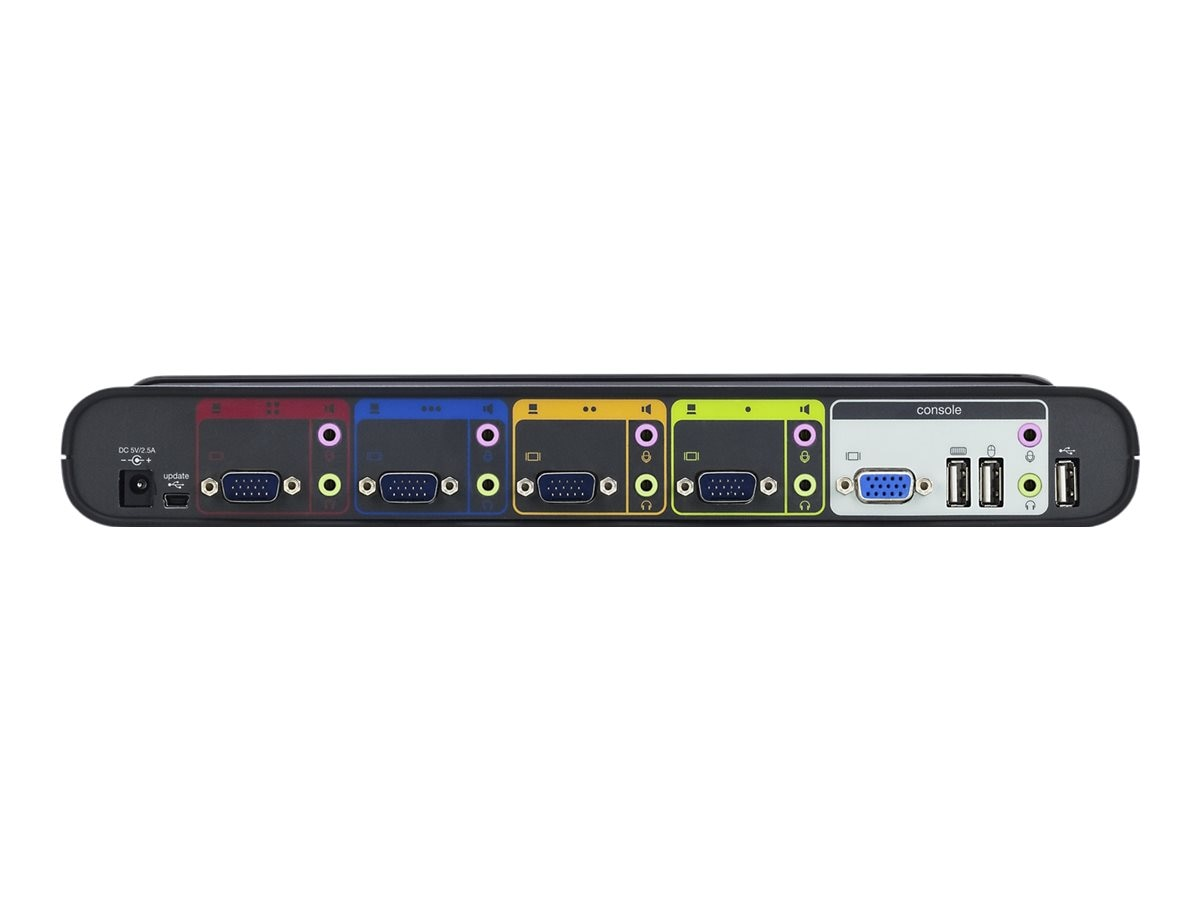Belkin 4-Port SOHO KVM Switch, VGA, USB with (4) KVM Cables, F1DS104L