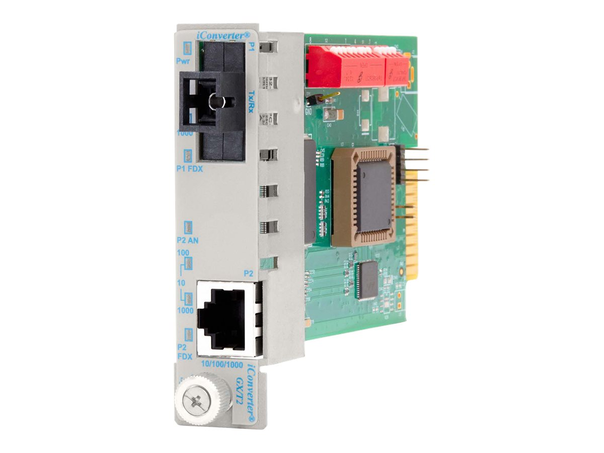 Omnitron iConverter10 100 1000 Gigabit Ethernet SC SM-SF 13 15