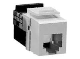 Leviton VoiceGrade QuickPort 6-Conductor USOC Snap-In Connector, 41106-RW6 -, 6769873, Adapters & Port Converters