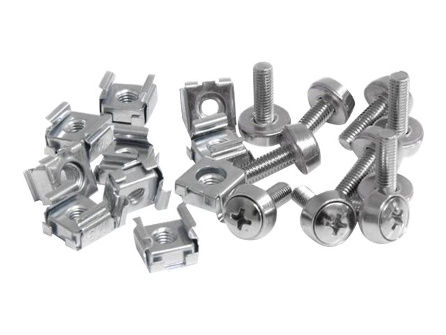 StarTech.com M5 Mounting Screws & Cage Nuts for Server Rack Cabinet (50-pack), CABSCREWM5