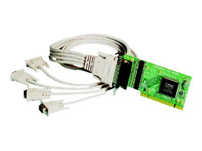 Brainboxes 4-Port RS232 Low Profile PCI Serial Port Card DB25, UC-271, 15251241, Controller Cards & I/O Boards
