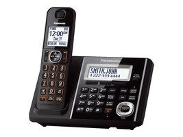 Panasonic Cordless Phone w  Tad One Handset - Black, KX-TGF340B, 22728588, Telephones - Consumer