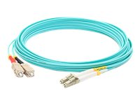 ACP-EP SC-LC OM4 Multimode Duplex Fiber Patch Cable, Aqua, 40m