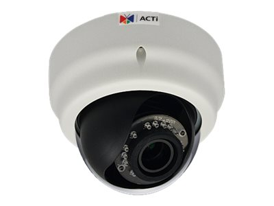 Acti 1MP Indoor Dome with D N, Adaptive IR, Superior WDR, Vari-focal lens, E64A