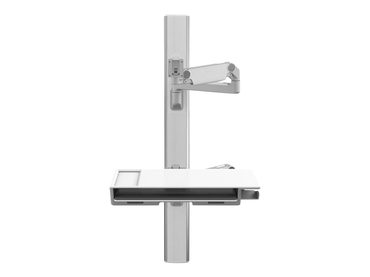 Humanscale V6 Wall Station, 47 Track, (2) 12 Straight 12 Dynamic Link Arms
