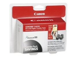 Canon Black PG-40, Color CLI-41 & 4 x 6 Glossy Photo Paper Combo Pack, 0615B009, 6821141, Paper, Labels & Other Print Media