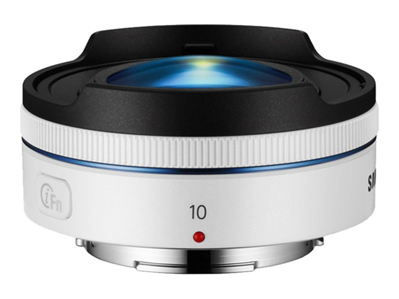Samsung 10mm f 3.5 Fisheye Lens, White, EX-F10ANW/US, 18743654, Camera & Camcorder Lenses & Filters
