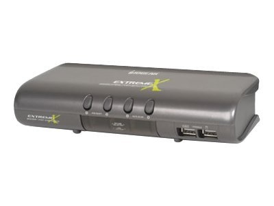 IOGEAR 4-port MiniView Extreme Multimedia KVMP Switch Kit, Cables Included, GCS1734, 471063, KVM Switches