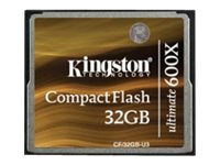 Kingston 32GB Ultimate CompactFlash 600x Flash Card with Recovery Software, CF/32GB-U3, 12715775, Memory - Flash