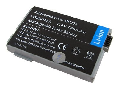 BTI Battery, Lithium-Ion, 7.4 Volts, 700mAh, for Camcorder, BTI-CN208, 8443121, Batteries - Camera