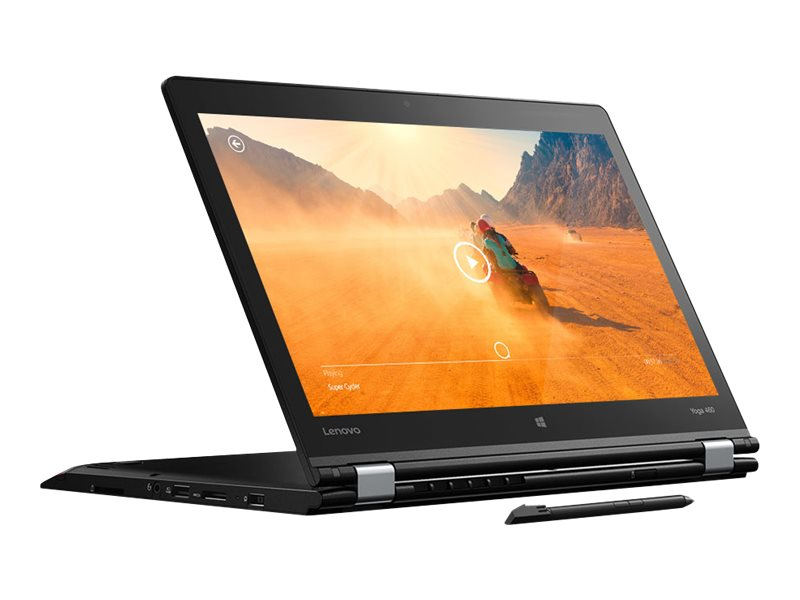 Lenovo TopSeller ThinkPad Yoga 460 Core i5-6200U 2.3GHz 4GB 192GB SSD ac BT FR WC Pen 14 FHD MT W10P64, 20EM001PUS