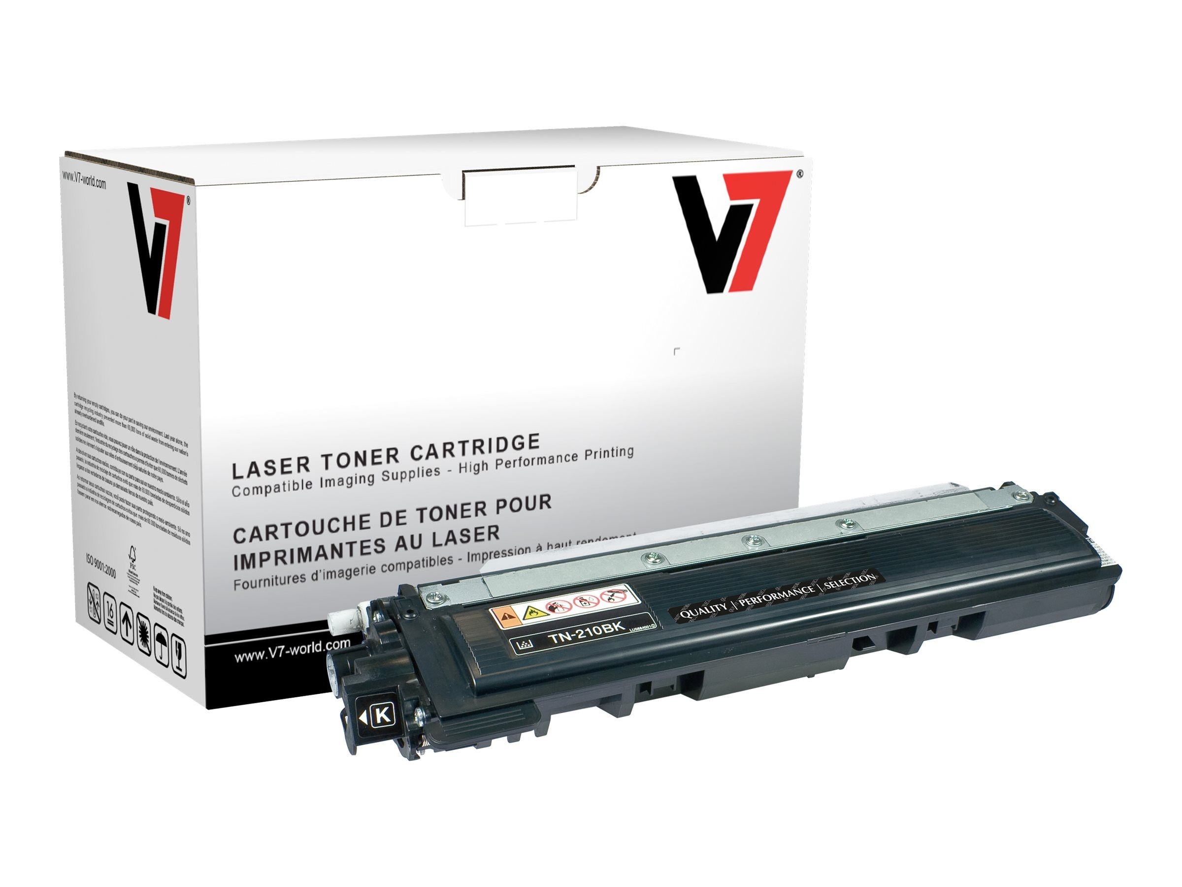 V7 TN210BK Black High Yield Toner Cartridge for Brother HL-4040 (TAA Compliant), TBK2TN210BKH