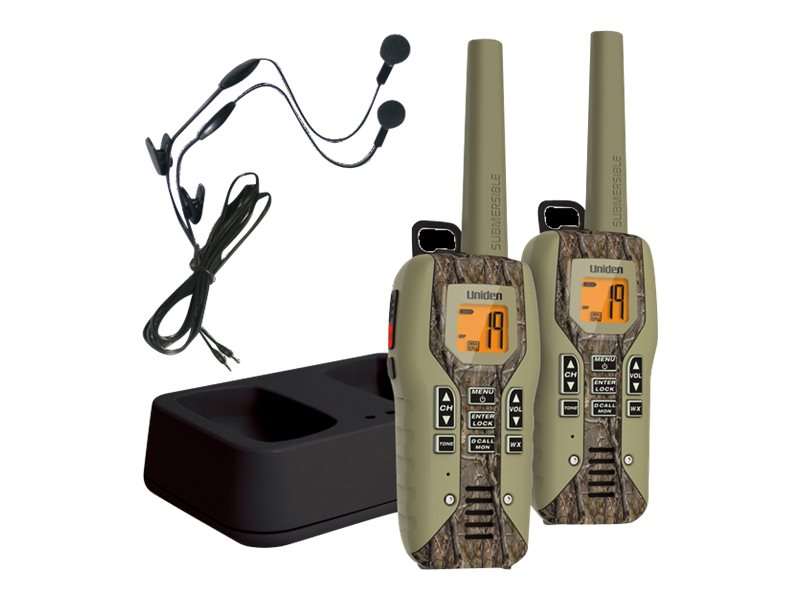 Uniden GMRS FRS 50-Mile Radio w  Privacy Codes, Weather Alerts & Headsets - Camo, GMR5088-2CKHS, 31643535, Two-Way Radios
