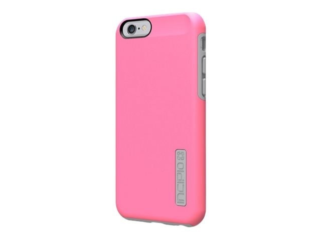 Incipio DualPro Hard Shell Case w  Impact-Absorbing Core for iPhone 6 6s, Bubble Gum Pink Gray
